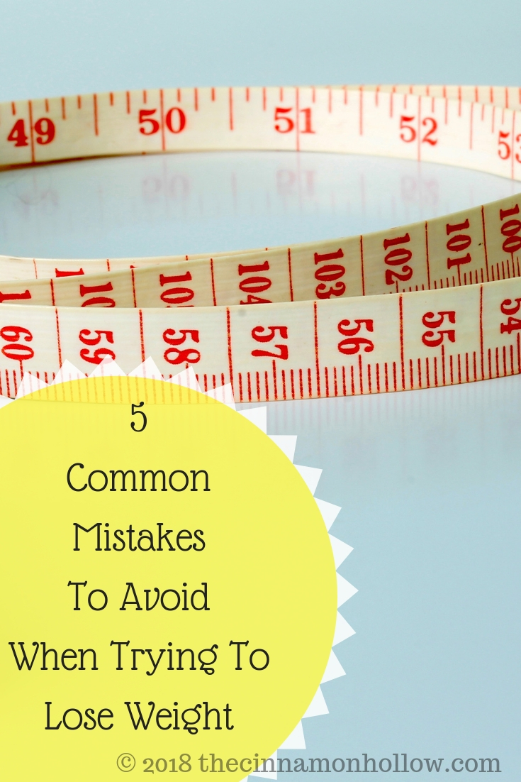5 Common Mistakes To Avoid When Trying To Lose Weight