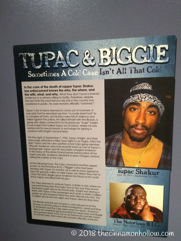 Alcatraz East Museum Tupac And Biggie Display
