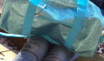 Bixbee Kids Travel Bag - Sparkalicious Large Turquoise Duffle