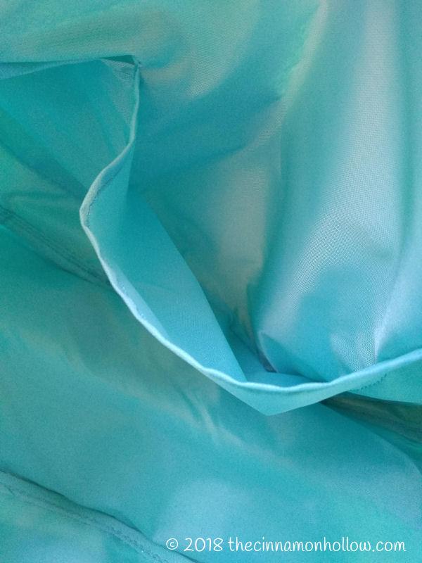 Bixbee Sparkalicious Large Turquoise Duffle Inside Pockets
