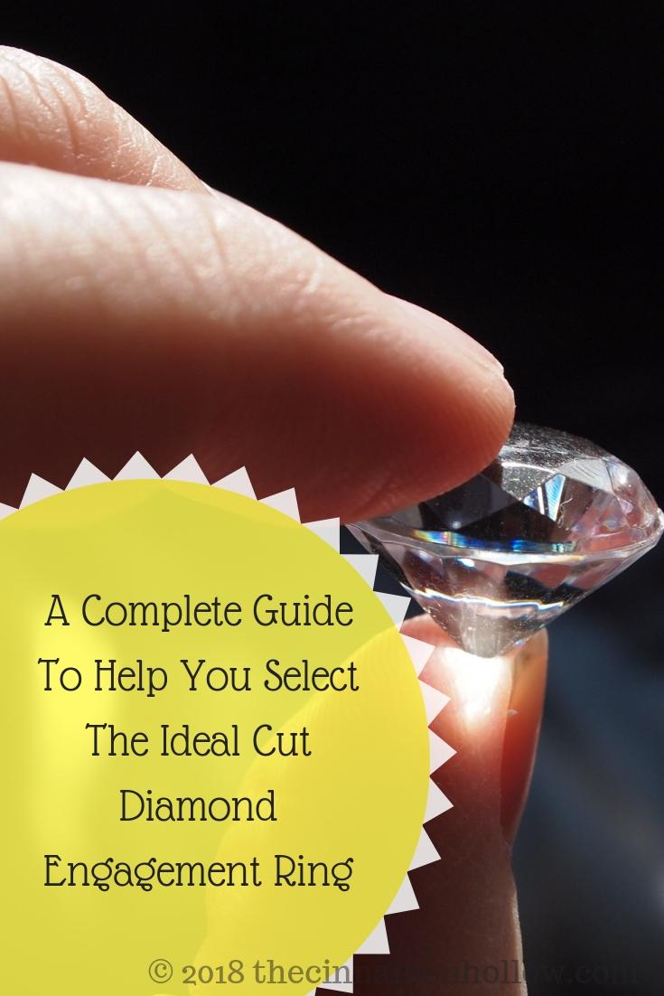 Ideal Cut Diamond Engagement Ring