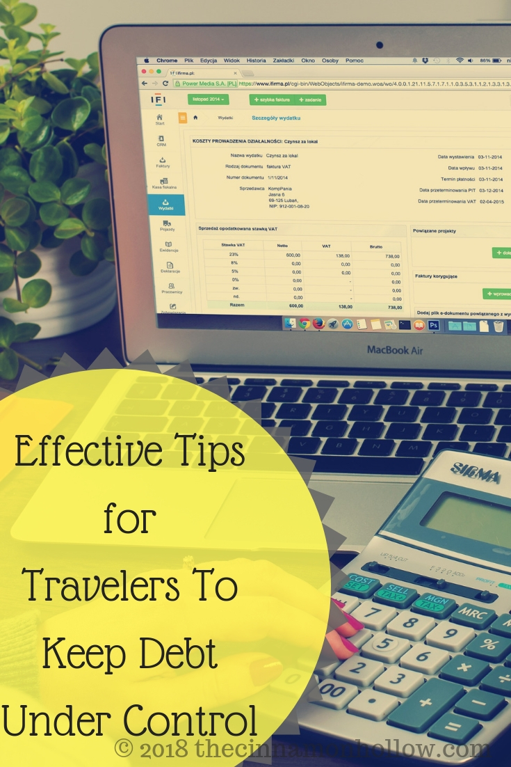 Effective Tips for Travelers To Keep Debt Under Control