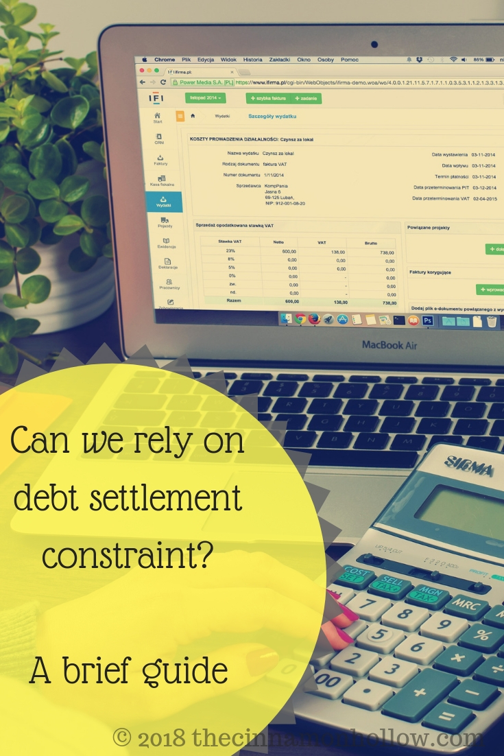 Can We Rely On Debt Settlement Constraint? A Brief Guide