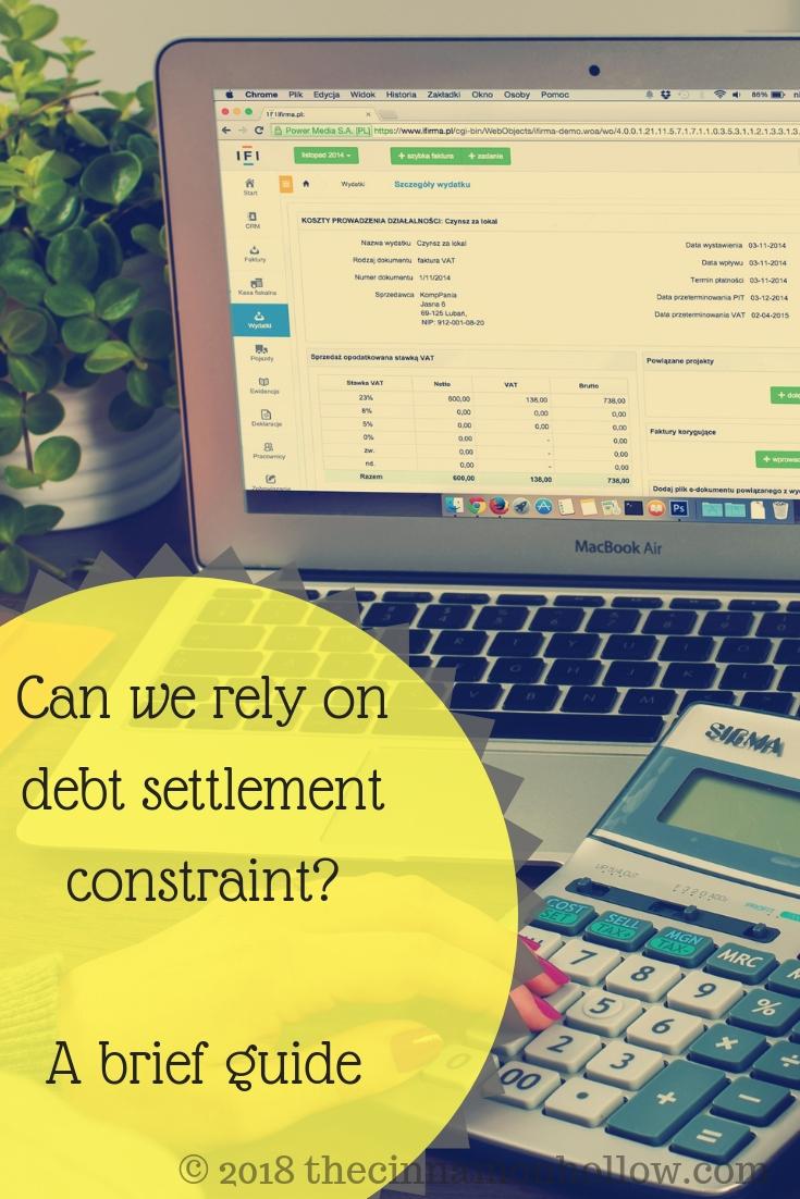 debt settlement constraint