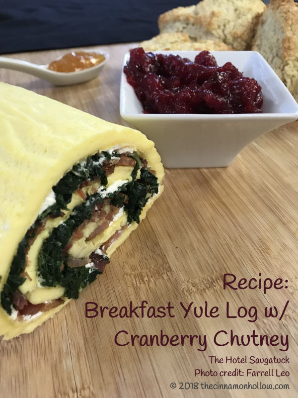 Try This Delicious Breakfast Yule Log With Cranberry Chutney Recipe
