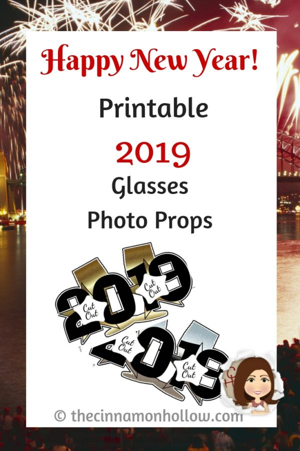 Download These Printable 2019 Glasses Photo Props
