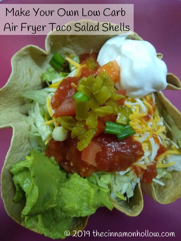 Make Your Own Low Carb Taco Salad Shells In Your Air Fryer