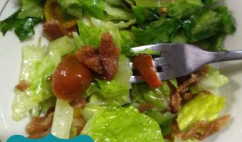 Warm BLT Salad: BLT Wilted Lettuce Salad - THM S - Low Carb