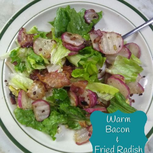 Warm Bacon And fried Radish Salad - Low Carb