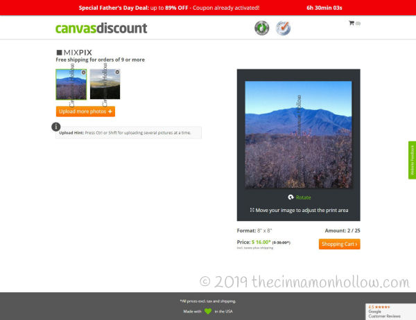 CanvasDiscount Photo Tiles Canvases