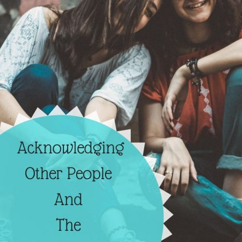Acknowledging Other People: Human Beings And Acknowledgement