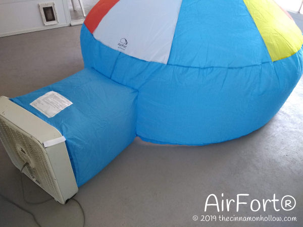 AirFort using a box fan