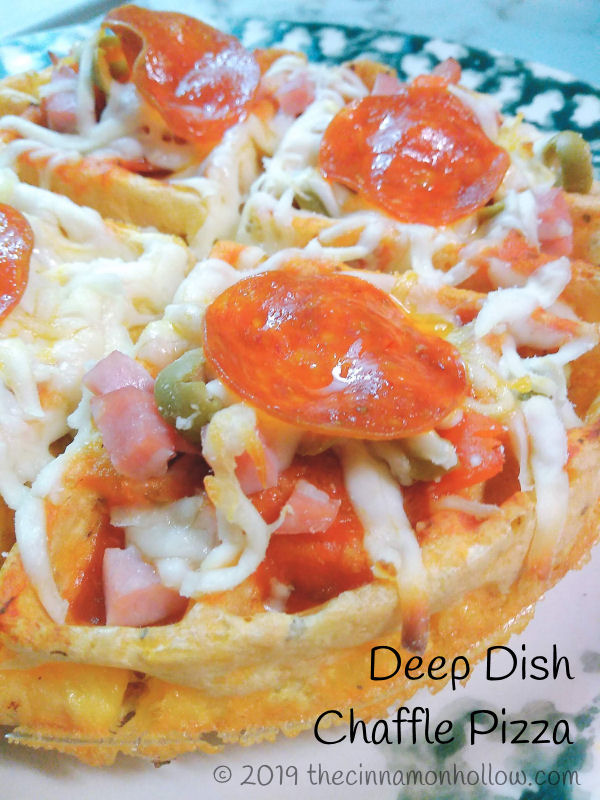 Deep Dish Chaffle Pizza