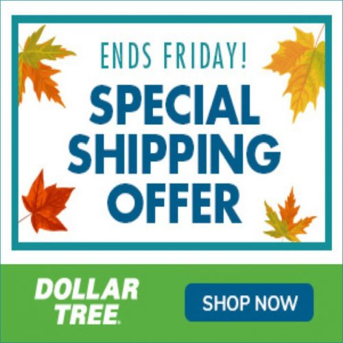 Dollar Tree 3 Day Flat Rate Shipping