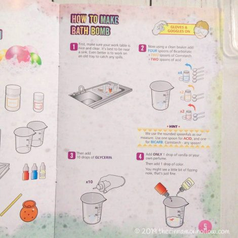 Glam Lab Science Luxury Bath Bomb Factory Instructions