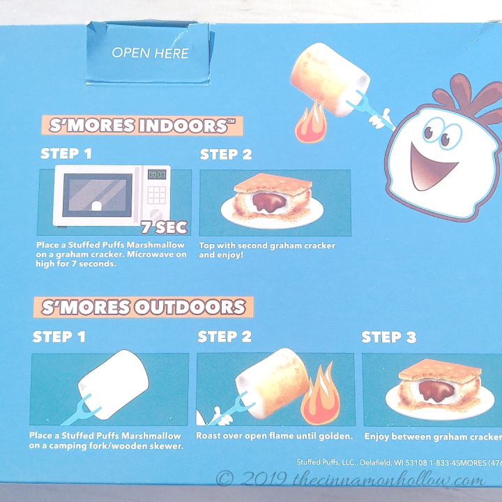 Stuffed Puffs S'mores Indoors Kit Instructions For Use