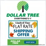 Dollar Tree's $4.95 Flat Rate Shipping Event - Extended!