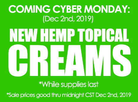 New THM Hemp Topical Creams
