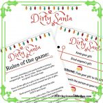 Dirty Santa Game: Download This Free Christmas Game Printable
