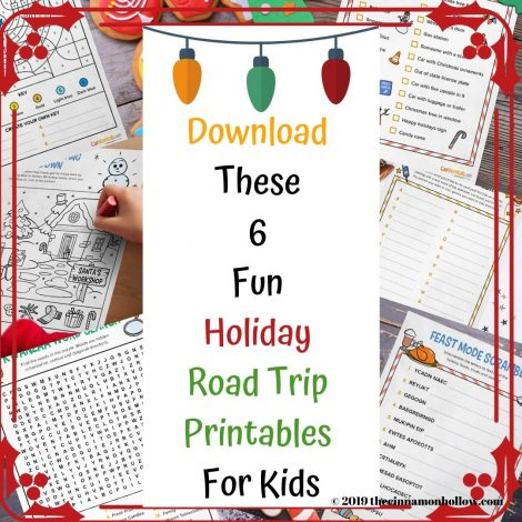 Download These 6 Fun Holiday Road Trip Printables For Kids