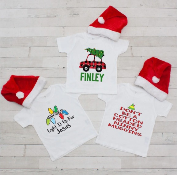 Personalized Christmas T's & Santa Hat Guaranteed By Christmas At Jane