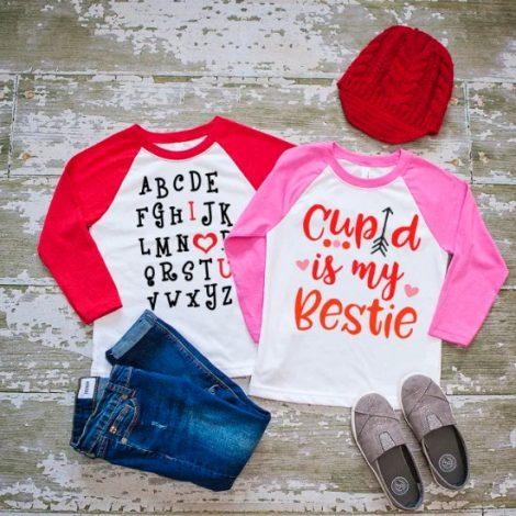 Affordable Valentine Gifts - Jane Kids Valentines Raglans
