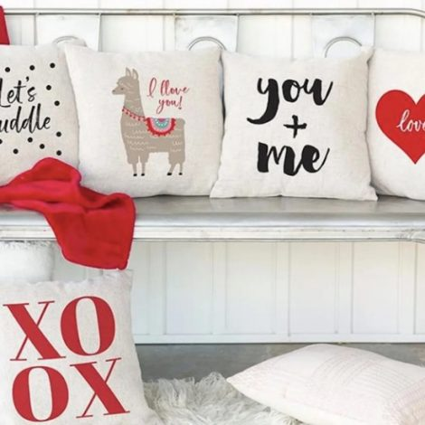 Affordable Valentine Gifts - Jane Love Throw Pillow Covers Valentine
