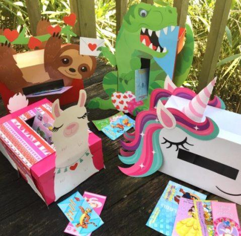Affordable Valentine Gifts - Kids Mailbox DIY Kit Jane.com