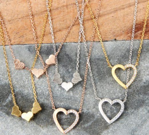 Affordable Valentine Gifts - Valentines Heart Necklaces Jane.com