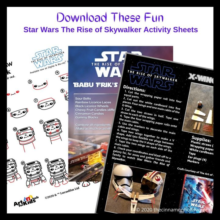 Star Wars The Rise Of Skywalker Recipe Activity Sheets Indoor Fun