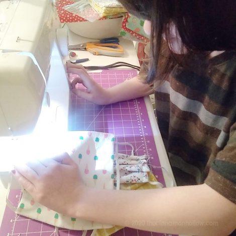 Teaching my kids to sew. #RemakeTomorrow