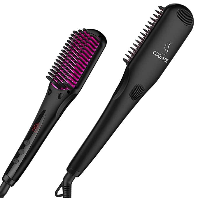 Coolkesi Ionic Hair Straightener Brush