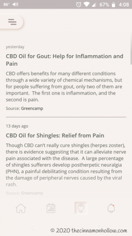 CBD Oil dosage calculator app