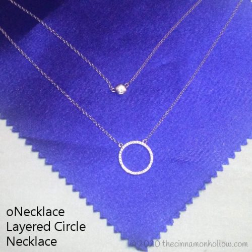 oNecklace Layered Circle Necklace