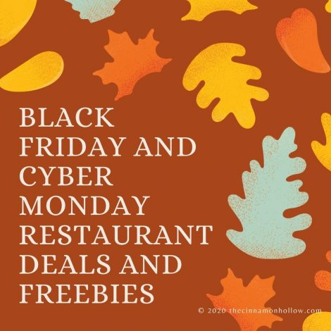 Black Friday And Cyber Monday Restaurant Deals And Freebies