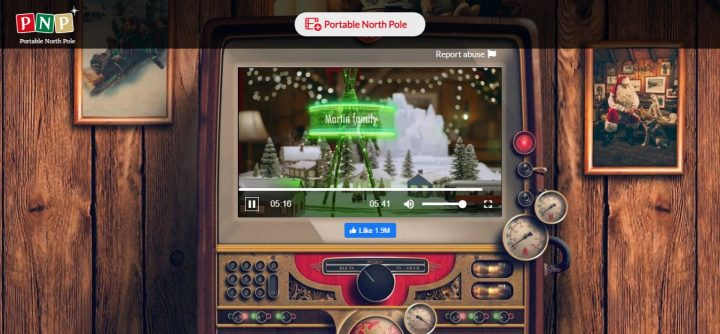 Watch Your Santa Video Message Portable North Pole