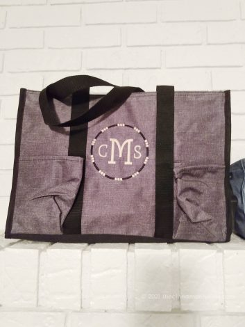 Thirty-One Zip-Top Organizing Utility Tote - Personalized