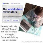 Learning Online Math Tutoring