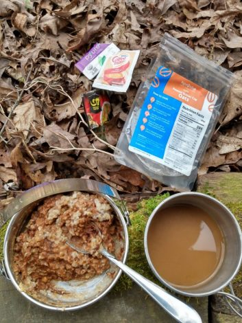 Right On Trek - Peanut Butter Cup Oatmeal And Coffee