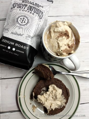 Vanilla Bean Bourbon Coffee Low Carb Single Serve Cake With Caramel Whipped Cream