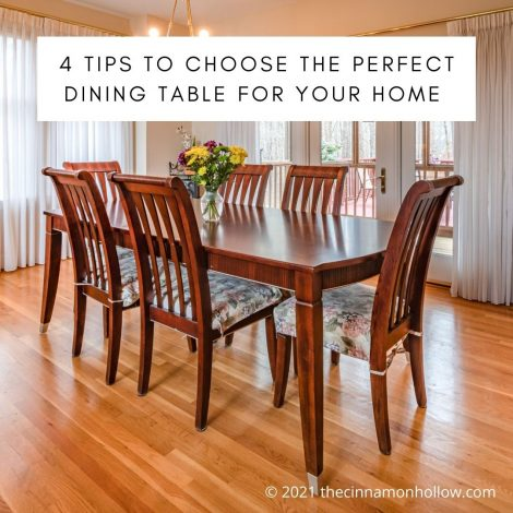 4 Tips To Choose The Perfect Dining Table For Your Home