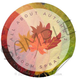 All About Autumn Room Spray Label Sample